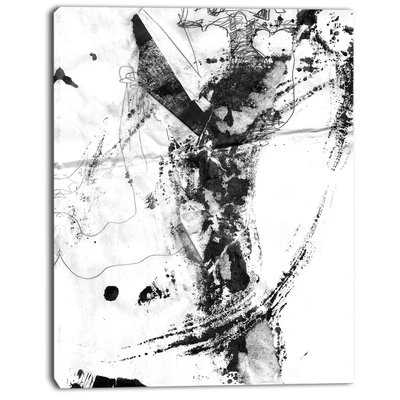 'Abstract Black Stain' Oil Painting Print on Canvas - Wayfair