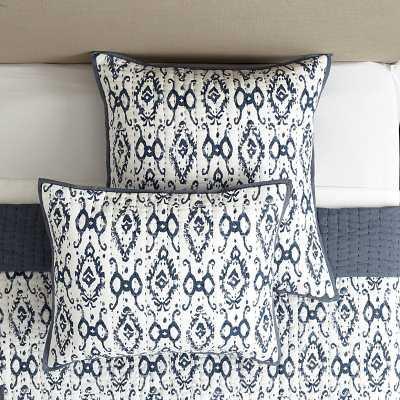 Ballard Designs Liliana Ikat Quilted Sham Spa Euro - Ballard Designs