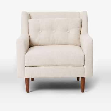 Crosby Armchair, Pebble Weave, Oatmeal - West Elm