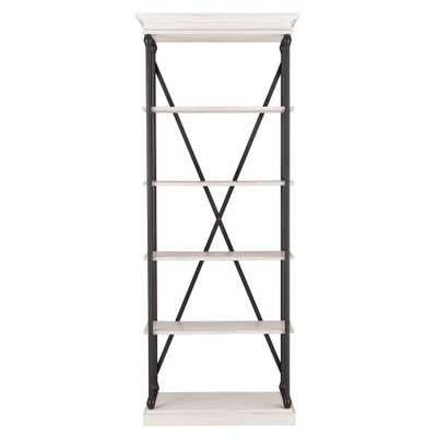 Manor Drive White Wash Open Bookcase - Home Depot