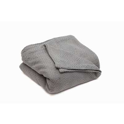 Josie Cotton Full/Queen Throw Blanket In Grey - Home Depot