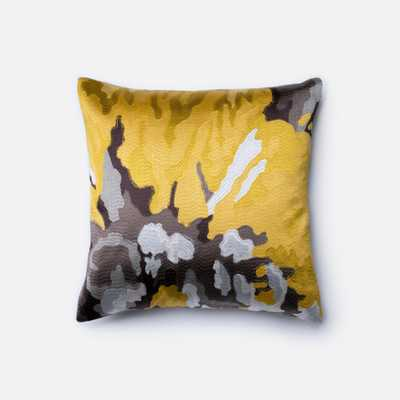 """PILLOWS - YELLOW / GREY - 18"""" X 18"""" Cover Only - Loma Threads"""