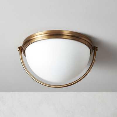 Half and Half Brass Flush Mount Light - CB2
