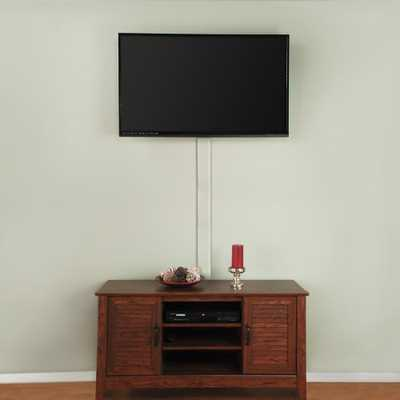 Flat Screen TV Cord Cover, White - Home Depot