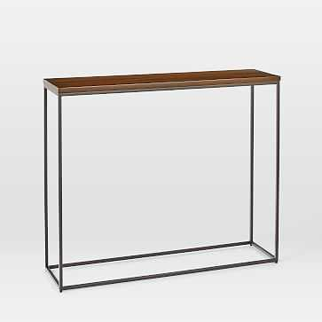 Streamline Console, Dark Walnut, Antique Bronze - West Elm