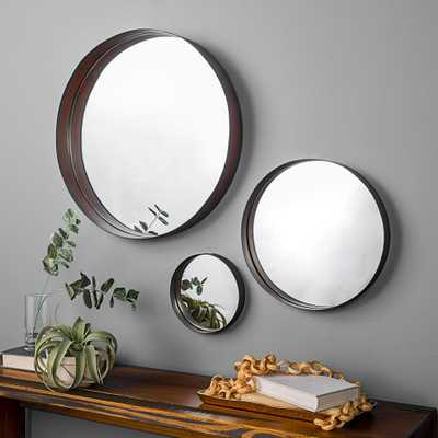 Banded Round Copper Mirrors (Set of 3) - Home Depot