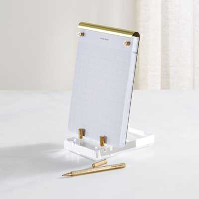Russell + Hazel Acrylic and Gold Desk Accessories - Crate and Barrel