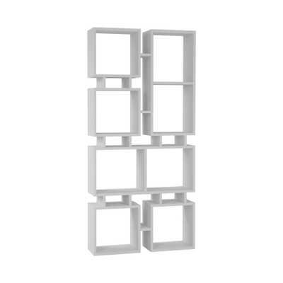 Ada Home Decor Bancroft White Mid-Century Modern Bookcase - Home Depot