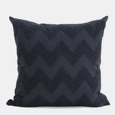 Luxury Chevron Embroidered with Bead Pillow Cover - Wayfair