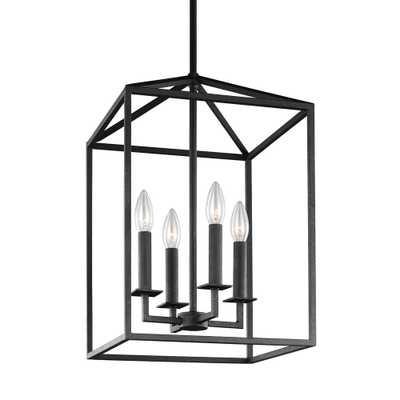 Sea Gull Lighting Perryton 4-Light Blacksmith Hall-Foyer Pendant - Home Depot