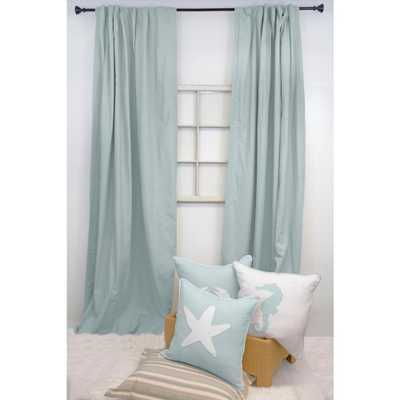 American Colors Brand 84 in. L Spa Blue Curtain Panel - Home Depot