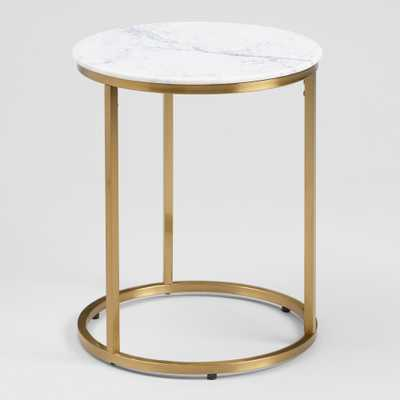 Round White Marble Milan Accent Table by World Market - World Market/Cost Plus