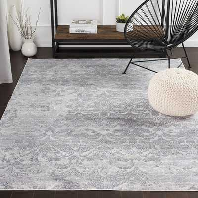 Heger Distressed Silver Gray/White Area Rug - Wayfair