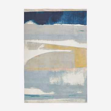 Sunkissed Landscape Rug, Light Pool, 6'x9' - West Elm