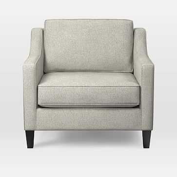 Paidge Chair, Down Blend, Twill, Stone, Cone chocolate - West Elm