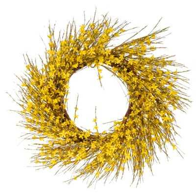 Faux Forsythia Wreath - AllModern