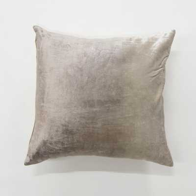 Ombre Taupe (Brown) Velvet Pillow - Home Depot