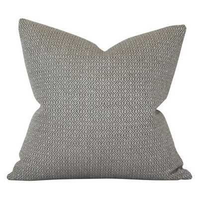 Mamet Pewter - 26x26 pillow cover - Arianna Belle