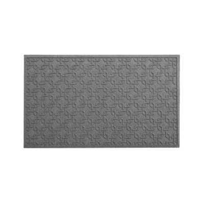 "Thirsty Links Light Grey Doormat 36""x60"" - Crate and Barrel"