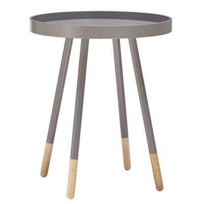 Hanna Grey Tray Side Table - Home Depot