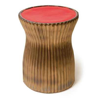Ridged Ceramic Accent Stool - Wayfair