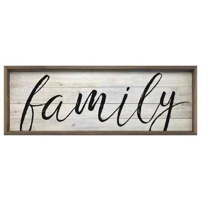 'Family' Picture Frame Textual Art on Wood - Birch Lane
