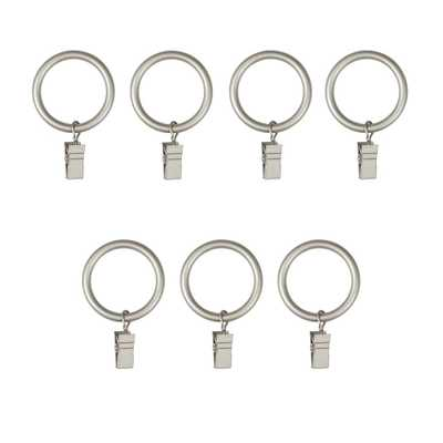Umbra 1 in. Large Clip Rings in Nickel (7-Piece) - Home Depot