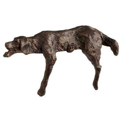 Asta Industrial Loft Bronze Metal Decorative Dog Sculpture - Kathy Kuo Home