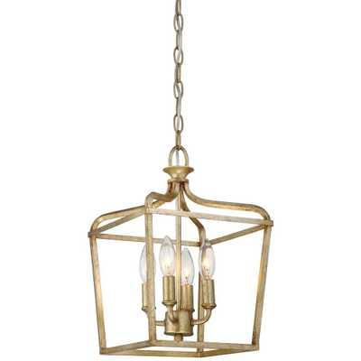 Minka Lavery Laurel Estate 4-Light Brio Gold Pendant - Home Depot