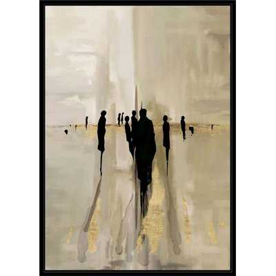 'Gold People' Framed Graphic Art Print on Canvas - Wayfair