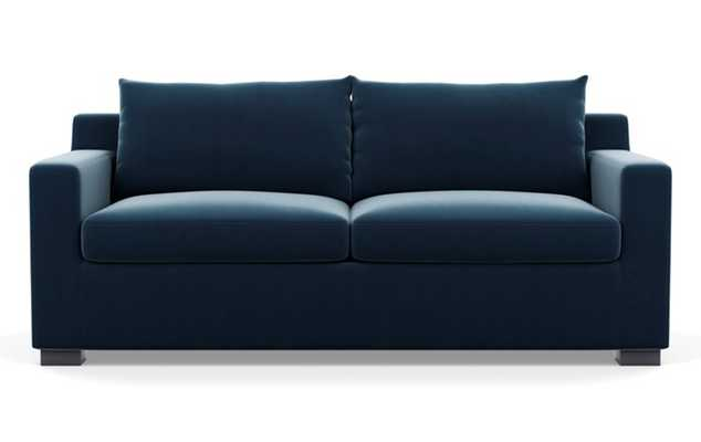 Sloan Sleeper Sleepers with Sapphire Fabric and Painted Black legs - Interior Define