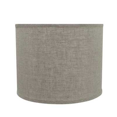 Aspen Creative Corporation 14 in. x 11 in. Grey Hardback Drum/Cylinder Lamp Shade - Home Depot