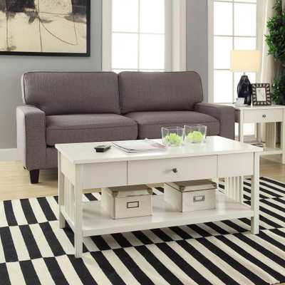 Mission White Coffee Table - Home Depot