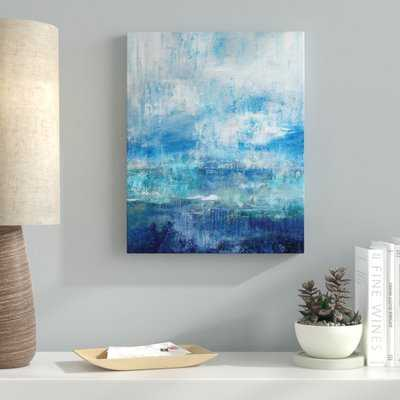 'Morning Mist' Watercolor Painting Print on Wrapped Canvas - Wayfair