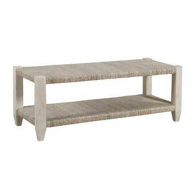 Graphite Wicker Bench - Wayfair