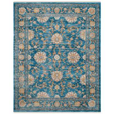 Vintage Persian Turquoise/Multi 9 ft. x 12 ft. Area Rug - Home Depot