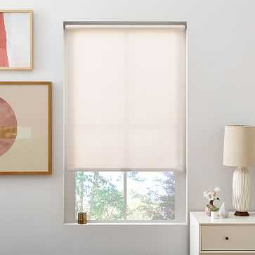 """Bali Roller Shade, Small, Pearl, 23""""x48"""", Light Filtering - West Elm"""