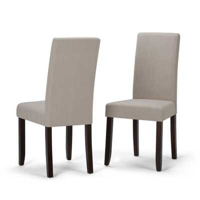 Acadian Natural Parsons Dining Chair (Set of 2) - Home Depot