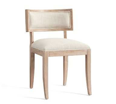 Diana Desk Chair, Upholstered Stationary - Pottery Barn