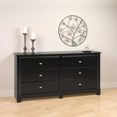 Kallisto 6-Drawer Black Dresser - Home Depot