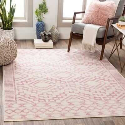 Windley Distressed Pale Pink/Cream Area Rug - Wayfair