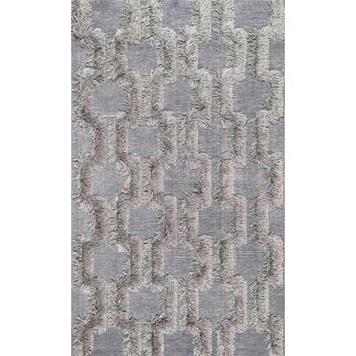 Annalise Bloc Shaggy Silver 5 ft. x 8 ft. Area Rug - Home Depot