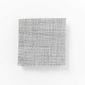Upholstery Fabric by the Yard, Heathered Crosshatch, Feather Gray - West Elm