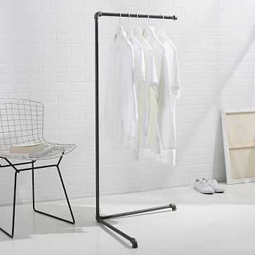 "Monroe Trades Clothing Rack, 51""H, Gunmetal - West Elm"