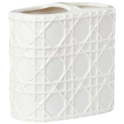 Home Decorators Collection Pisa Toothbrush Holder in White - Home Depot