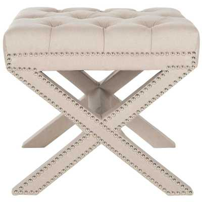 Patrice Taupe (Brown) Accent Ottoman - Home Depot