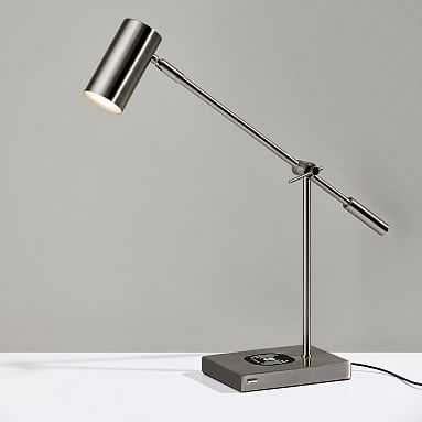 Ridge Charging LED Task Lamp, Nickel - Pottery Barn Teen