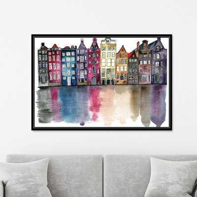 Amsterdam by Mina Teslaru - Floater Frame Print on Paper - AllModern