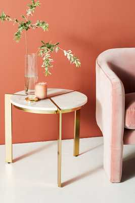 Sectored Marble Side Table - Anthropologie