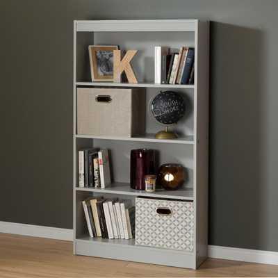 Axess Soft Gray Open Bookcase - Home Depot